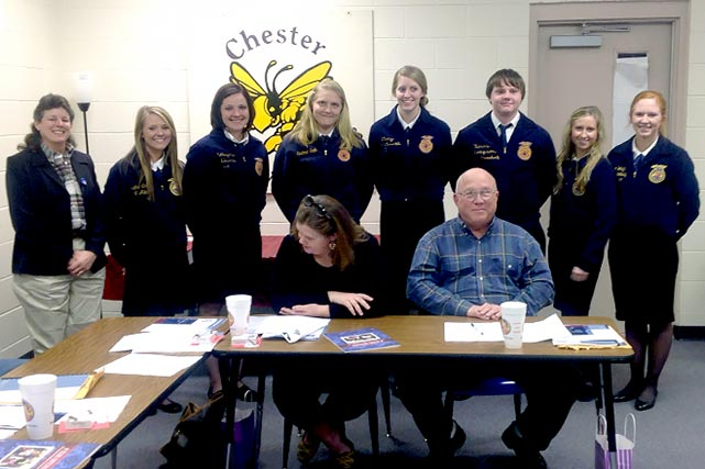 FFA honors Chester School board