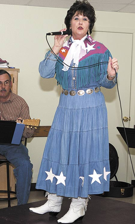 Rhonda Fowler Bigby is shown as Patsy Cline in 2011 performance. She will be joined by Amy Borel,  Earlette Stowe, Kirsten Spurlock and Faith Rodriguez in Saturday's event. (Jim Powers Photo)