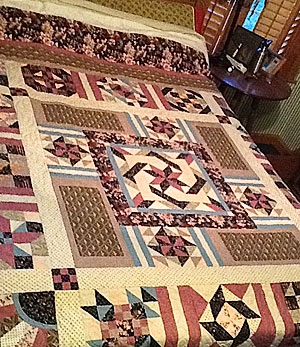 Raggie Mae Quilters are raffling this handmade quilt to raise money for Cystic Fibrosis patients.