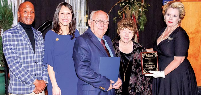 Lifetime Achievement Award — John and Mary Stagg, full time Red Cross Volunteers, have come to the aid of communities impacted by disaster all over the United States.  (Jim Powers/Tyler County Booster)