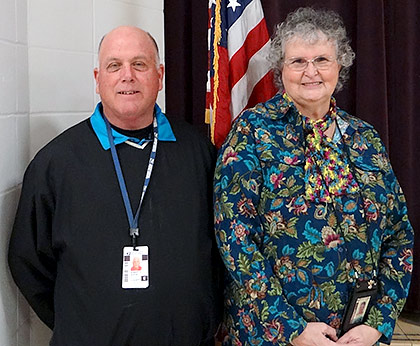 Lufkin Post Master Robert Austin and Chester Post Master Sarah Bourne met with Chester residents Monday to discuss likelihood of a four-hour day