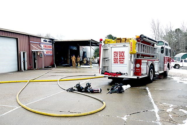 Pate's Collision Repair damaged in Friday morning fire.