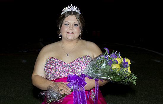 Chester Senior Paige Whitworth was named 2012 Chester Homecoming Queen during ceremonies before the game Saturday night. Congratulations Paige! (Jim Powers Photo