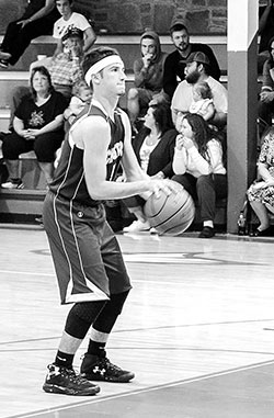 Cord Neal gets set to shoot a free throw against the Eagles.  Neal scored 27 points during the game.