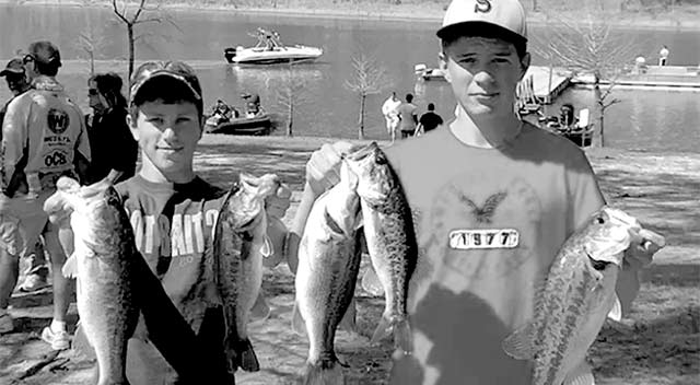 Robby Clark and Cory Hyden with their catches of the tournament.
