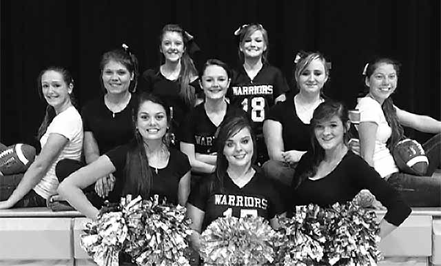 Warren Warriors cheerleading squad for 2014. (Photo by Daisy Marino)