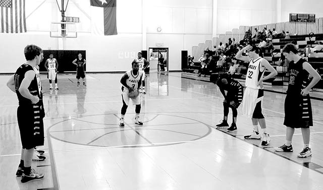 Marqui Jackson shoots a free throw in the third quarter versus Beaumont Kelly.