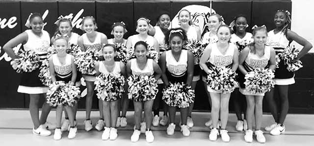 2014 Woodville Middle School Eagles Cheerleaders.