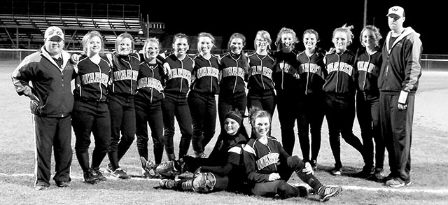 The Lady Warriors win their first district softball game. (Winter Sims photo)