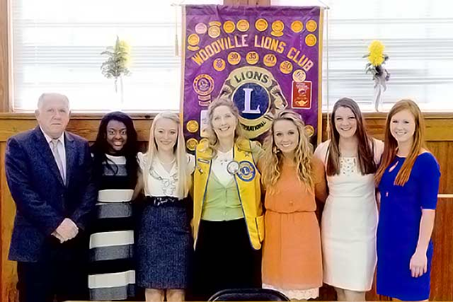 Dogwood Princesses speak at Lions meeting