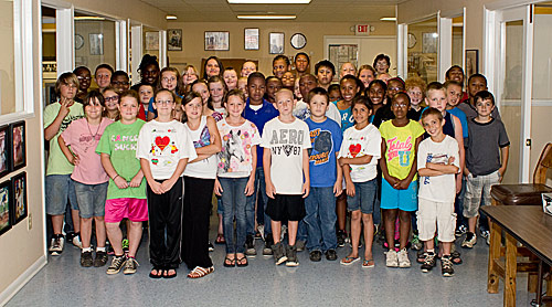 A Fourth Grade Woodville Intermediate Class Visits The Booster