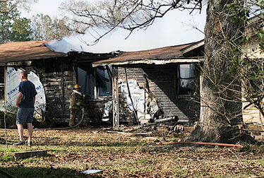 Spurger, Silsbee VFDs respond to house fire --Corrected Story--