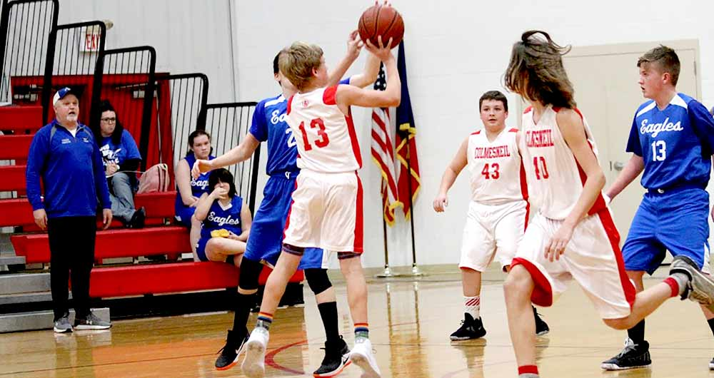 Junior High Lady Dogs fight hard against Apple Springs